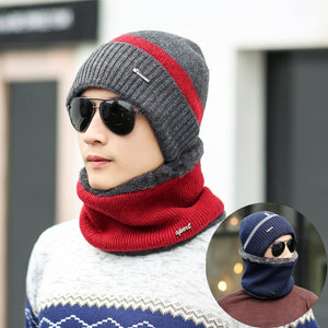 Winter Beanies Men Scarf Knitted Hat:bigredbags.com