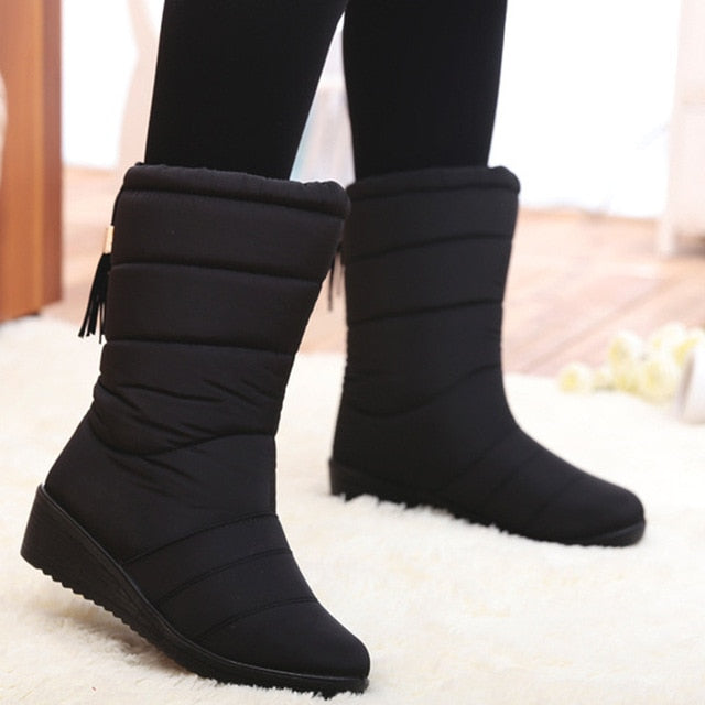 Women Boots Wedge Heels Snow Boots:bigredbags.com