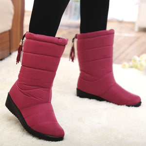 Women Boots Wedge Heels Snow Boots