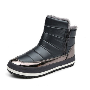 Women Snow winter Flat Waterproof Boots:bigredbags.com
