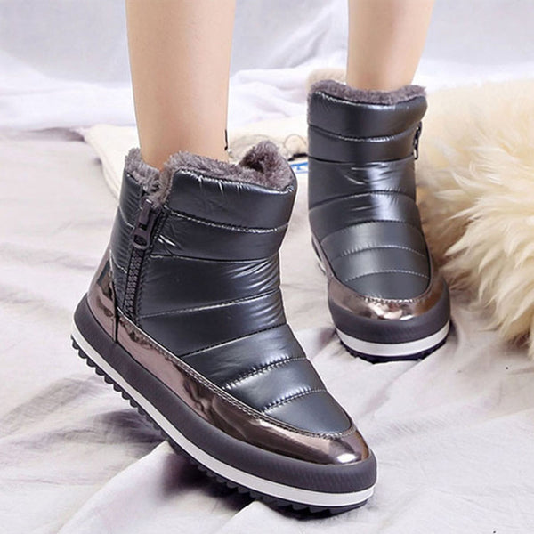 Women Snow winter Flat Waterproof Boots