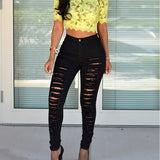 Bigsweety Hot Sale Women Casual Hole Jeans High Waist Skinny Pant Pencil Jeans Slim Ripped Sexy Female Girls Trousers Jeans New
