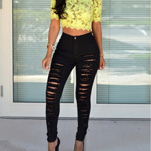 Load image into Gallery viewer, Bigsweety Hot Sale Women Casual Hole Jeans High Waist Skinny Pant Pencil Jeans Slim Ripped Sexy Female Girls Trousers Jeans New