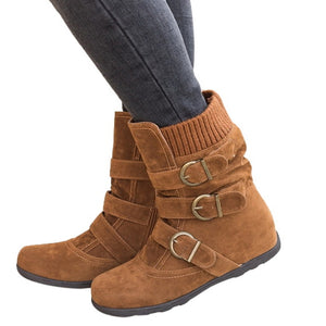 Women's Flat Bottom Winter Ankle Boots.