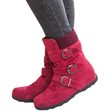 Load image into Gallery viewer, Women's Flat Bottom Winter Ankle Boots.