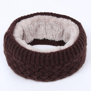 Ring Circle Wool Woman Winter Scarf