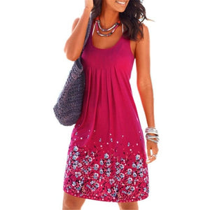 Bigredbagshop.com: Women Sleeveless Flower Print Dresses