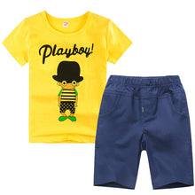 Load image into Gallery viewer, Boys Sporty 2Pce T-Shirt and Pants.