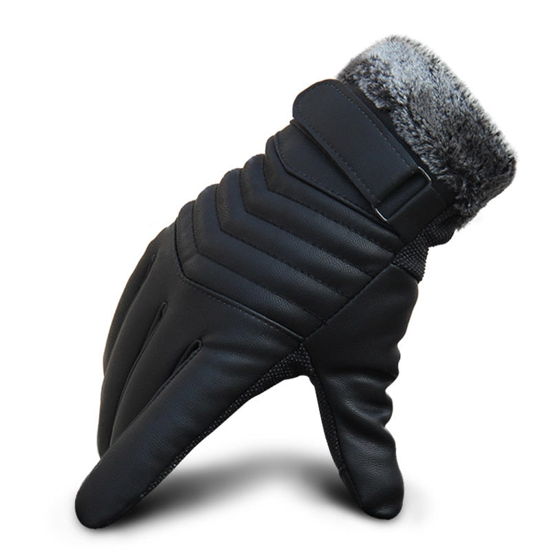 Men's touch-screen leather windproof Gloves: bigredbags.com