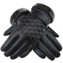 Load image into Gallery viewer, Men's touch-screen leather windproof Gloves: bigredbags.com