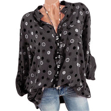 Load image into Gallery viewer, Bigredbagshop.com: Women's V Neck Polka Dot Shirts Long Sleeve Tops