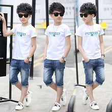 Load image into Gallery viewer, Boys Sporty Suits Set T-Shirt and Shorts