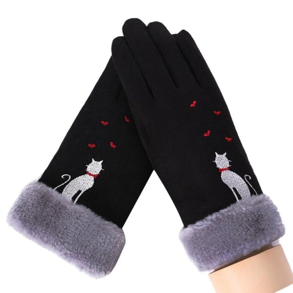 Winter Touch Screen Suede Leather Gloves