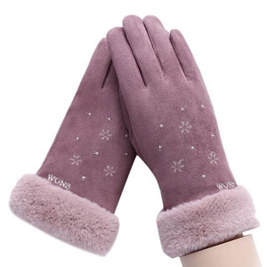 Winter Touch Screen Suede Leather Gloves:bigredbags.com