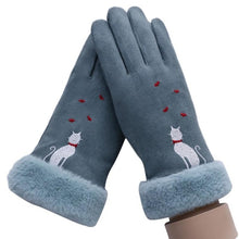 Load image into Gallery viewer, Winter Touch Screen Suede Leather Gloves:bigredbags.com