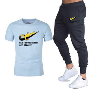 Men 2PC Causal Pant and Tee.