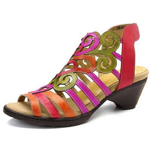 Load image into Gallery viewer, Genuine Leather Low Heel Woman Sandals