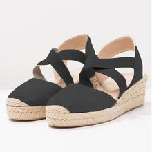 Load image into Gallery viewer, https://www.bigredbags.com/collections: Women Wedge with Elastic Band Sandals