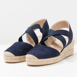 https://www.bigredbags.com/collections: Women Wedge with Elastic Band Sandals
