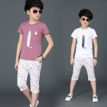 Load image into Gallery viewer,  Boys Clothes Shirt+Shorts Outfit