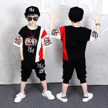 Load image into Gallery viewer, 2 Pieces Suit Kids Teenage Boys Clothing Sets