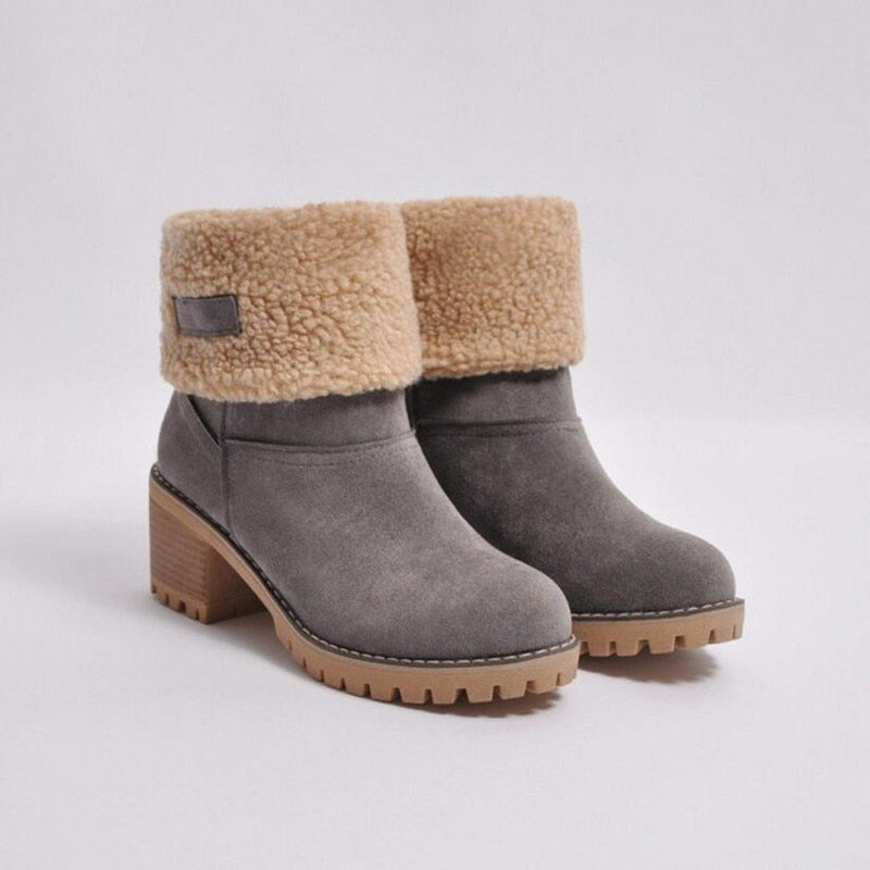 Women's  Large Ankle Winter Women Boots:bigredbags.com