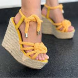 Summer Wedge Women Sandals Platform with Lace