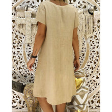Load image into Gallery viewer, Bigredbagshop.com: Causal woman cotton dresses