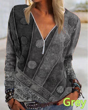 Load image into Gallery viewer, Women Printed Long Sleeve Shipt