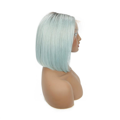 Brazilian Mink Straight Bob -  Turquoise Lace Front Bob Wig - MoWeave Virgin Hair