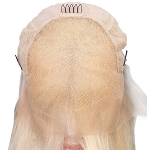 Brazilian Hair Straight 613# Blonde Lace Front Bob Wigs - MoWeave Virgin Hair