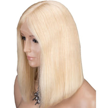 Load image into Gallery viewer, Brazilian Hair Straight 613# Blonde Lace Front Bob Wigs - MoWeave Virgin Hair