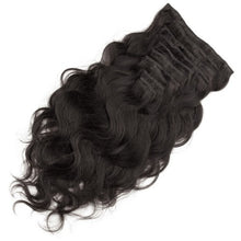Load image into Gallery viewer, Body Wave 1B Natual Black Clip In Hair Extensions - MoWeave Virgin Hair