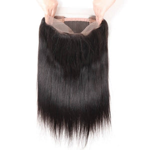 Brazilian Straight 360 Lace Frontal - MoWeave Virgin Hair