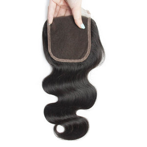 Middle Part Indian Body Wave Lace Closure - MoWeave Virgin Hair