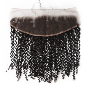 Indian Kinky Curly Lace Frontal - MoWeave Virgin Hair