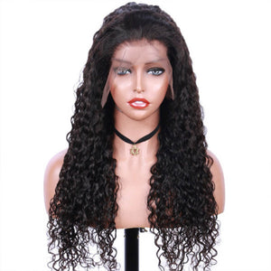 Jerry Curly Virgin Human Hair Lace Front Wigs - MoWeave Virgin Hair