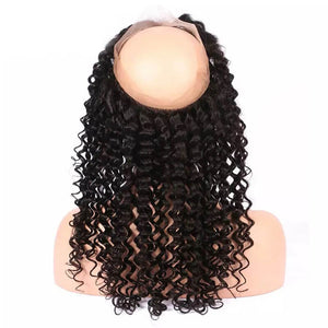 Malaysian Curly 360 Lace Frontal - MoWeave Virgin Hair