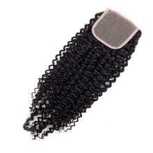 Load image into Gallery viewer, Middle Part Malaysian Kinky Curly Lace Closure - MoWeave Virgin Hair