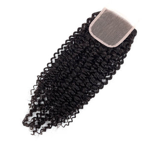 Middle Part Malaysian Kinky Curly Lace Closure - MoWeave Virgin Hair