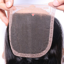 Load image into Gallery viewer, Middle Part Malaysian Loose Curly Lace Closure - MoWeave Virgin Hair