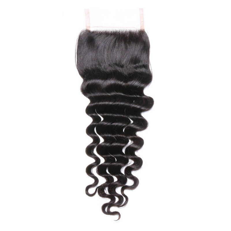Middle Part Malaysian Loose Curly Lace Closure - MoWeave Virgin Hair