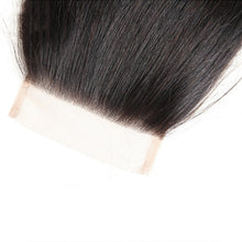 Load image into Gallery viewer, Three Part Malaysian Straight Lace Closure - MoWeave Virgin Hair