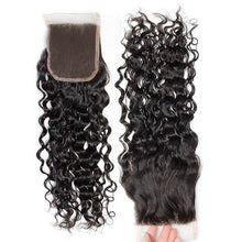 Load image into Gallery viewer, Three Part Malaysian Water Wave Lace Closure - MoWeave Virgin Hair