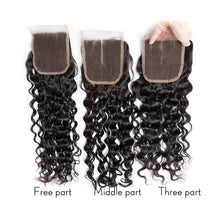 Load image into Gallery viewer, Three Part Malaysian Natural Wave Lace Closure - MoWeave Virgin Hair