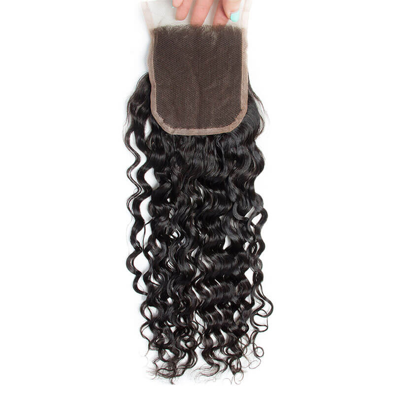 Three Part Malaysian Water Wave Lace Closure - MoWeave Virgin Hair
