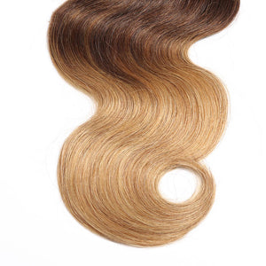 Ombre Hair Extensions Body Wave 1b/4/27 - MoWeave Virgin Hair