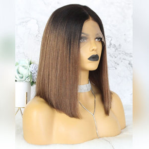 Mink Ombre Straight Lace Front Bob Wigs - MoWeave Virgin Hair