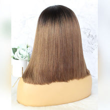 Load image into Gallery viewer, Mink Ombre Straight Lace Front Bob Wigs - MoWeave Virgin Hair