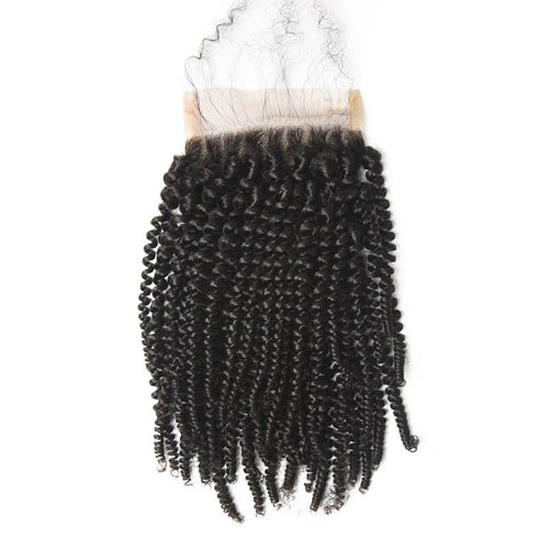 Peruvian Kinky Curly Lace Closure - MoWeave Virgin Hair